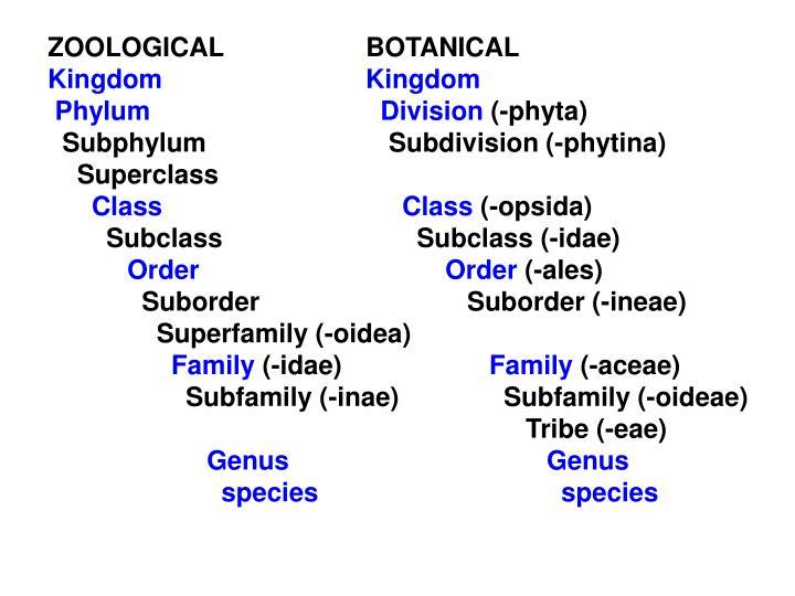 ZOOLOGICAL BOTANICAL