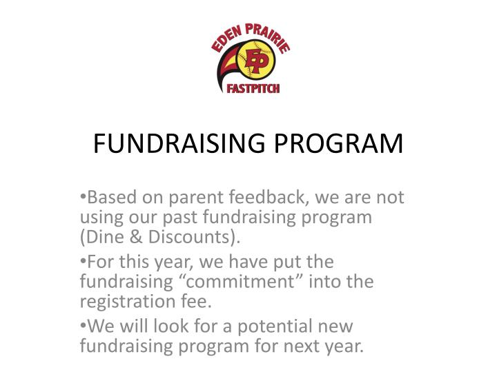 FUNDRAISING PROGRAM
