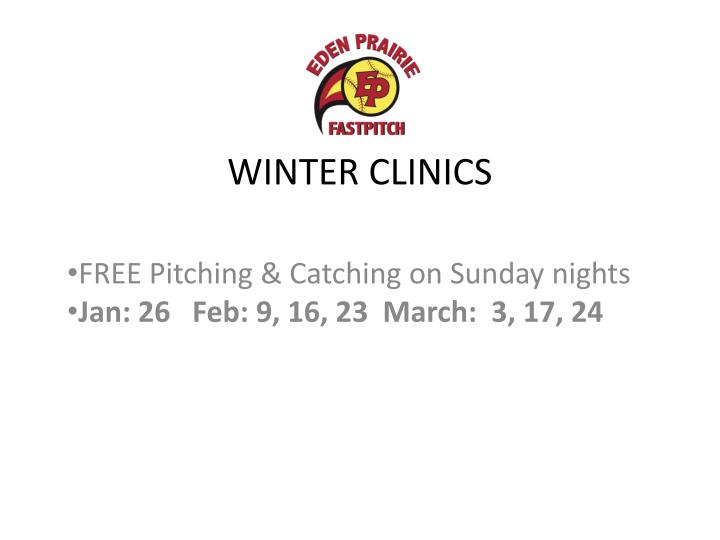 WINTER CLINICS