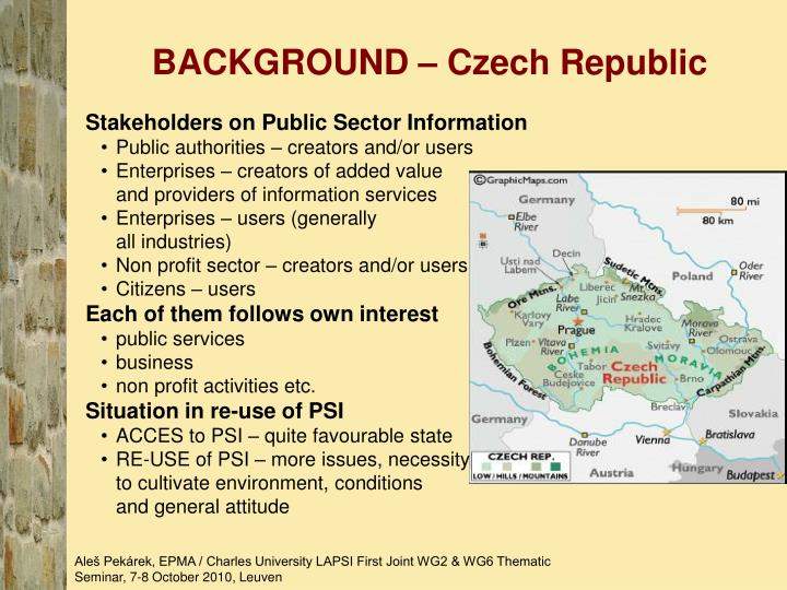 BACKGROUND – Czech Republic