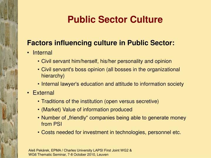 Public Sector Culture