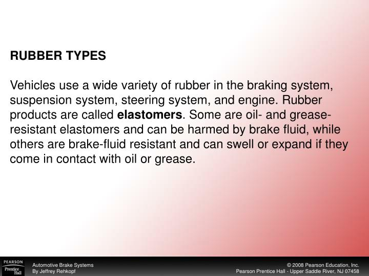 RUBBER TYPES