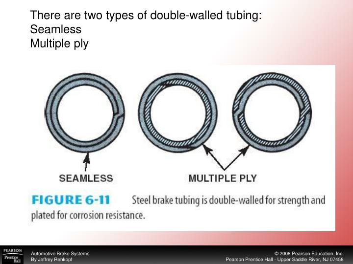 There are two types of double-walled tubing: