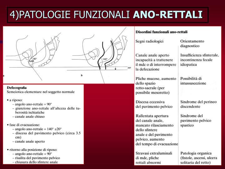 4)PATOLOGIE FUNZIONALI