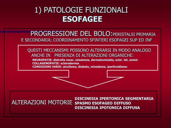 1) PATOLOGIE FUNZIONALI