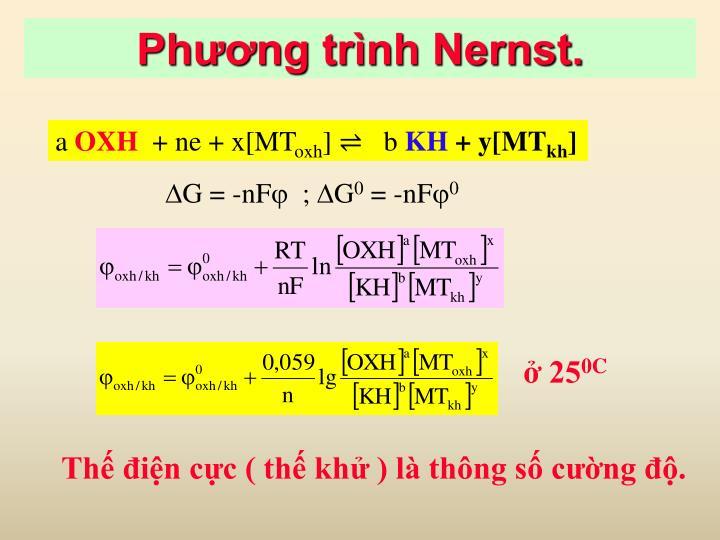 Phương trình Nernst.