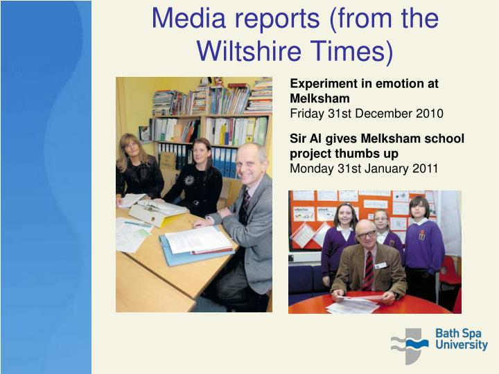 Media reports (from the Wiltshire Times)