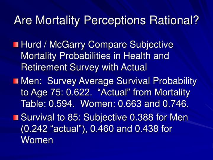 Are Mortality Perceptions Rational?