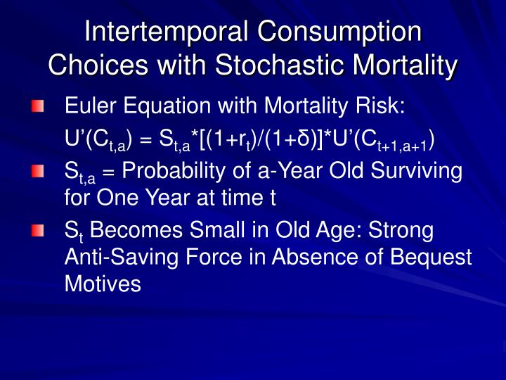 Intertemporal Consumption Choices with Stochastic Mortality