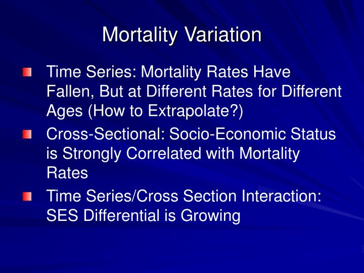 Mortality Variation