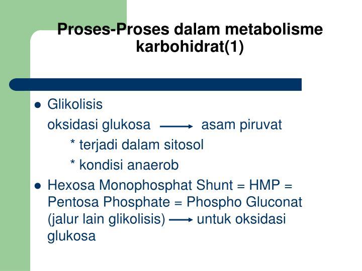 Proses-Proses dalam metabolisme karbohidrat(1)