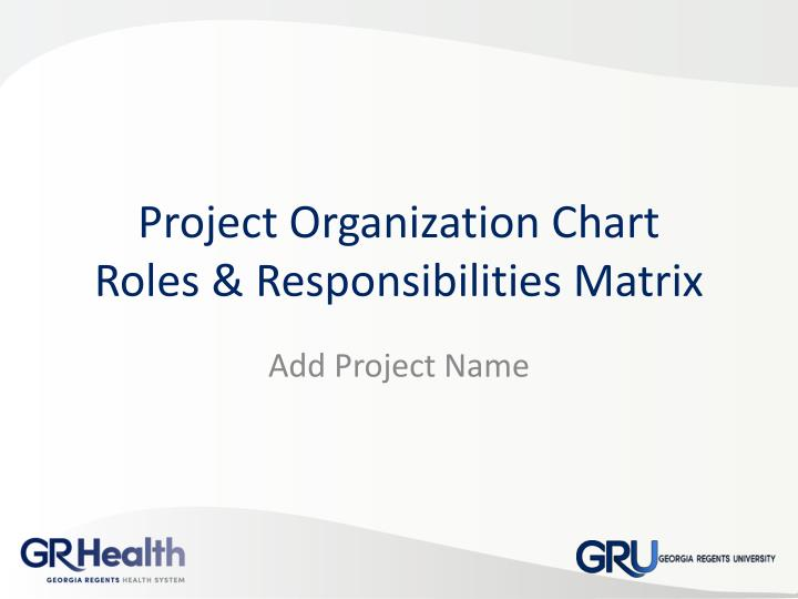 project organization chart roles responsibilities matrix