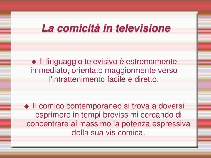 La comicità in televisione