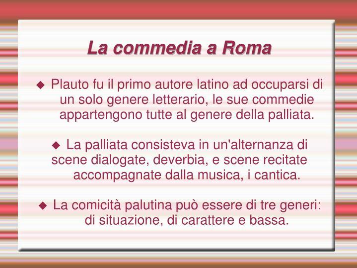 La commedia a Roma