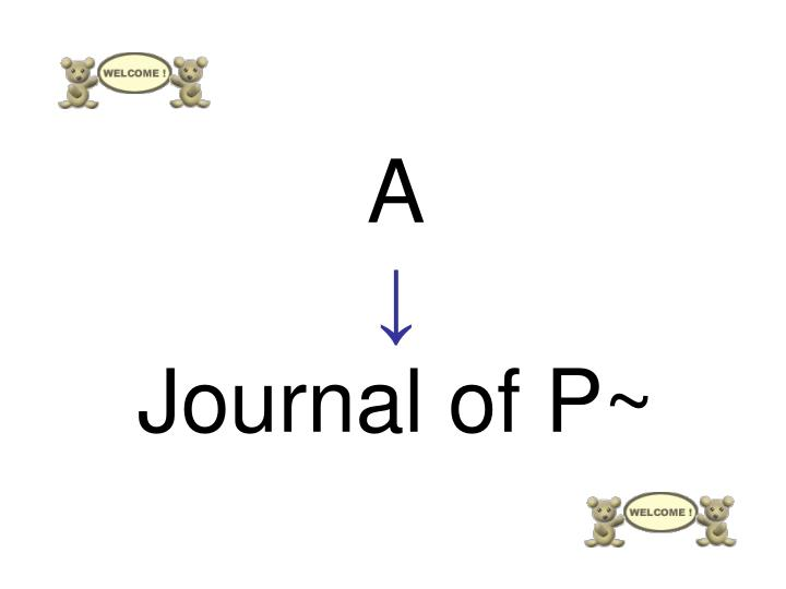 A journal of p