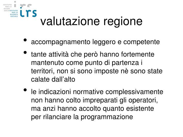 valutazione regione