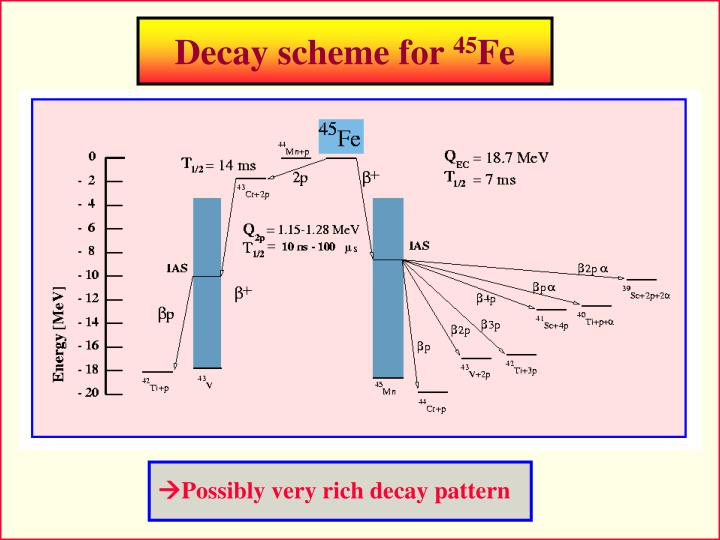 Decay scheme for