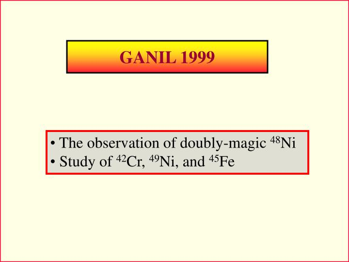 GANIL 1999