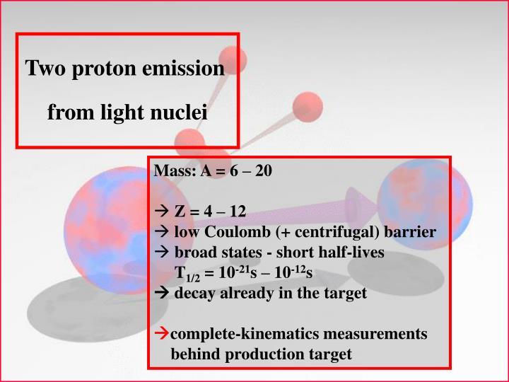 Two proton emission