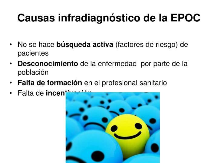 Causas infradiagnóstico de la EPOC