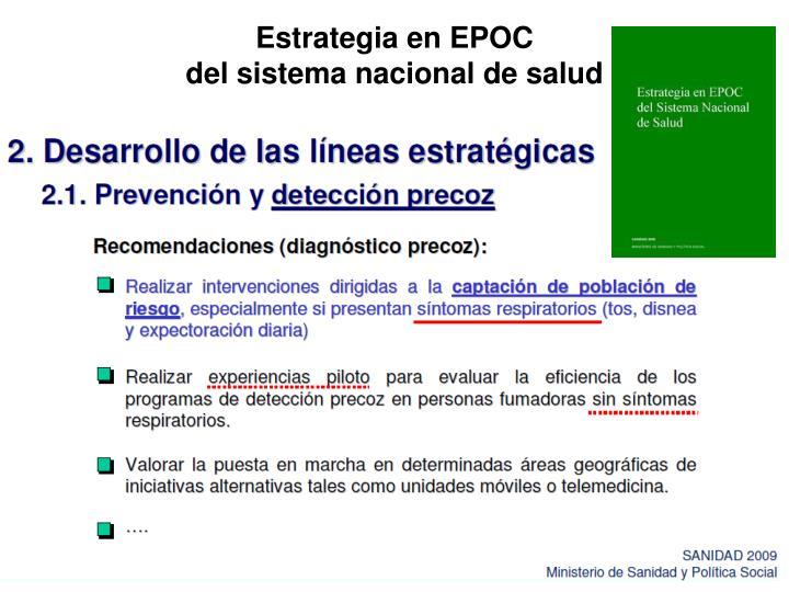Estrategia en EPOC                                                        del sistema nacional de salud