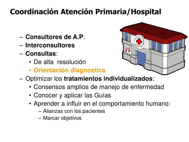 Coordinación Atención Primaria/Hospital