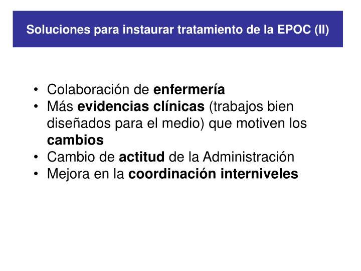 Soluciones para instaurar tratamiento de la EPOC (II)