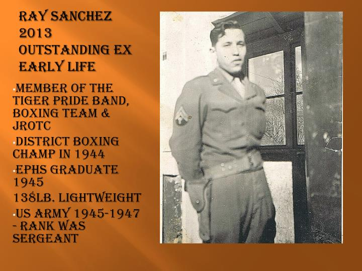 Ray sanchez 2013 outstanding ex early life