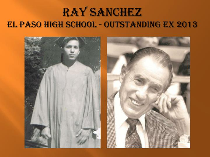Ray sanchez el paso high school outstanding ex 2013