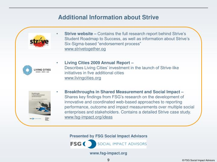 Strive website –
