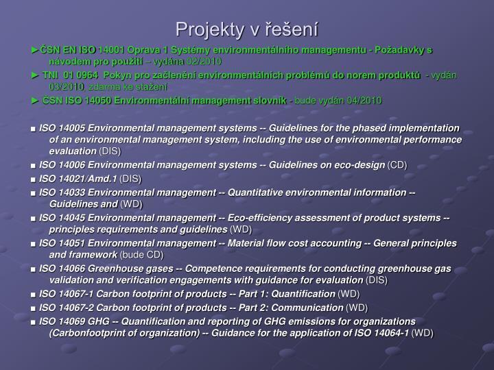 Projekty v řešení