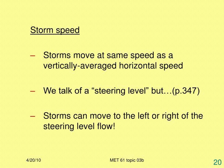 Storm speed