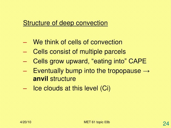 Structure of deep convection