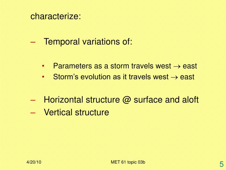 characterize: