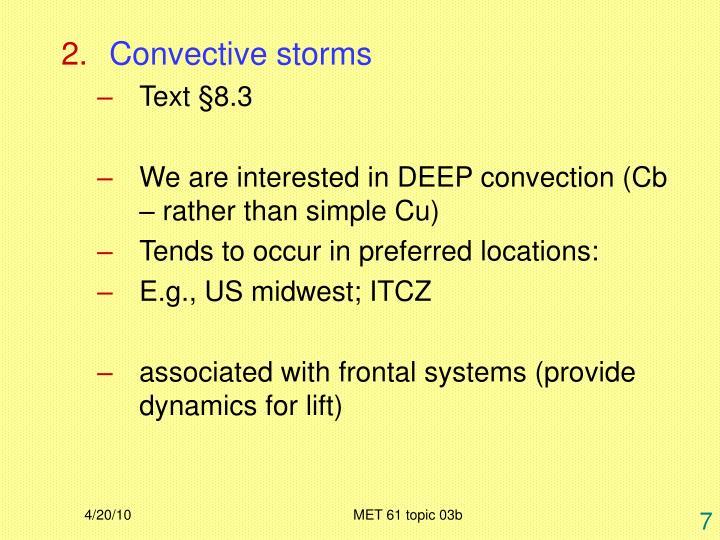 Convective storms