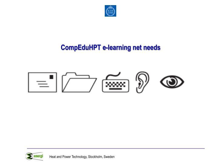 CompEduHPT e-learning net needs