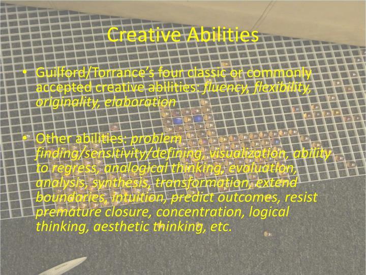 Creative Abilities