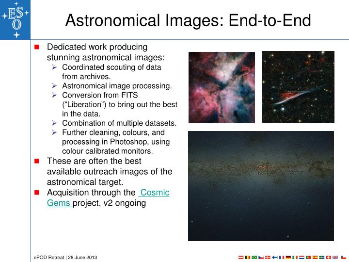 Astronomical Images: End-to-End