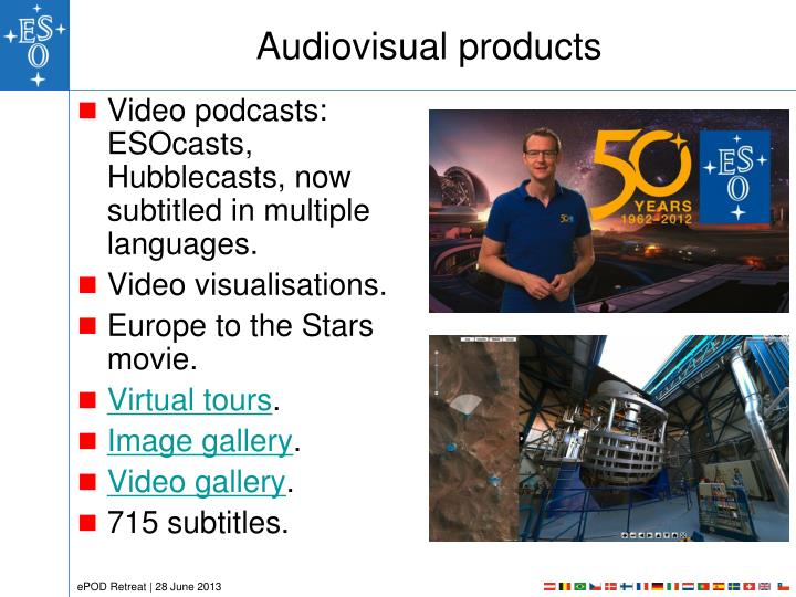 Audiovisual products
