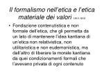 il formalismo nell etica e l etica materiale dei valori 1913 1916