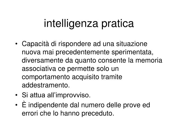 intelligenza pratica