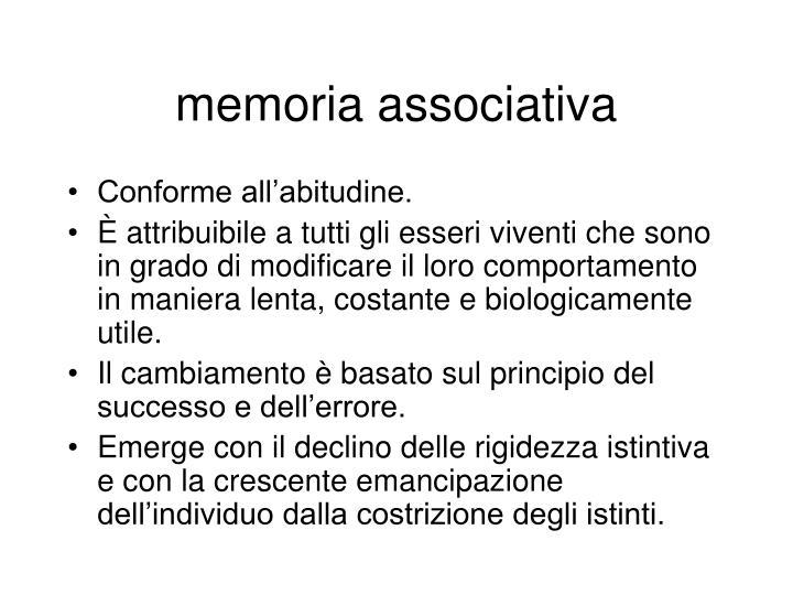 memoria associativa