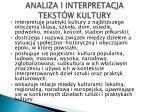 analiza i interpretacja tekst w kultury1