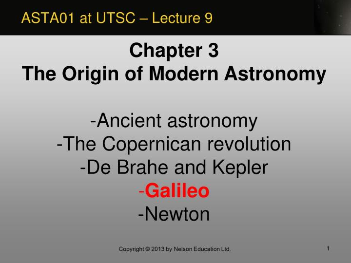Asta01 at utsc lecture 9