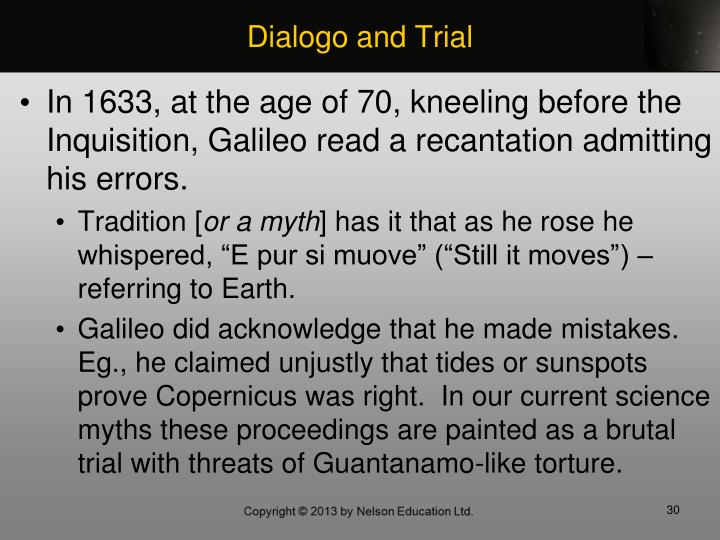 Dialogo and Trial