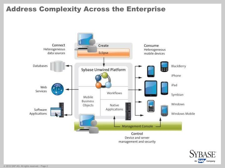 Address complexity across the enterprise