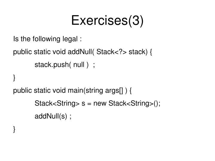 Exercises(3)