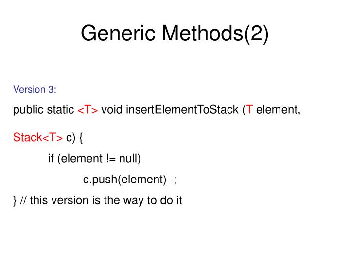 Generic Methods(2)