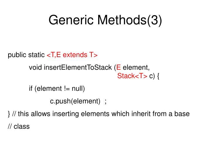 Generic Methods(3)