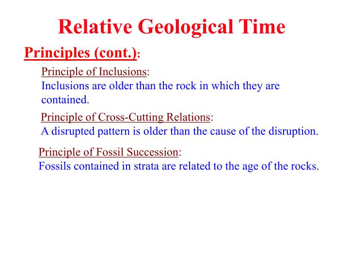 Relative Geological Time